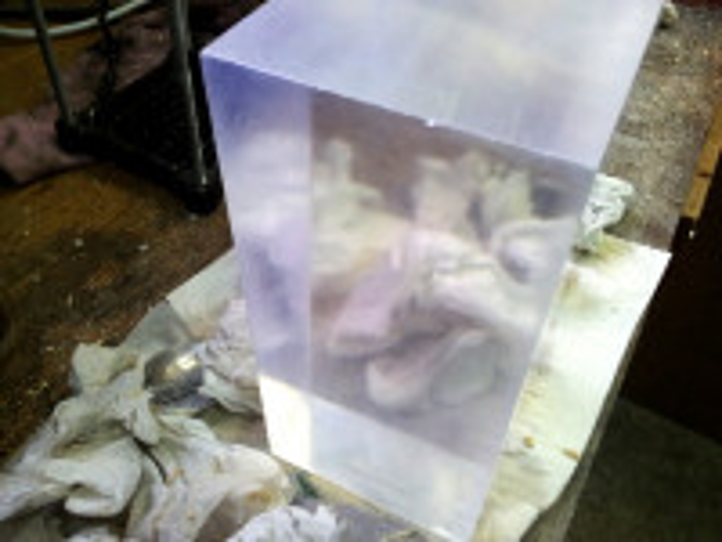 Polished FAG - scintillation plastic