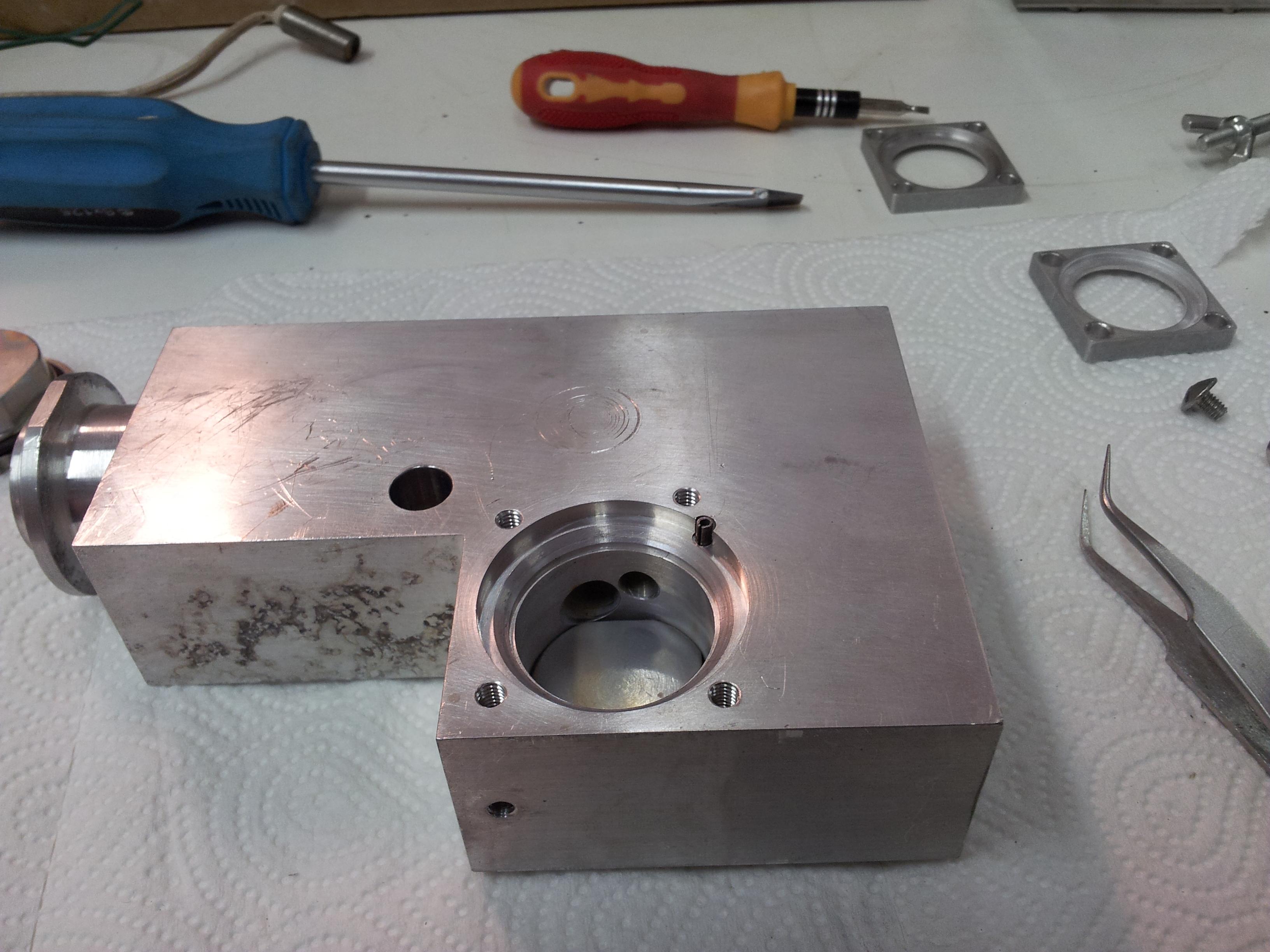 Iontová trasa (90° magnety jsou demontovány)