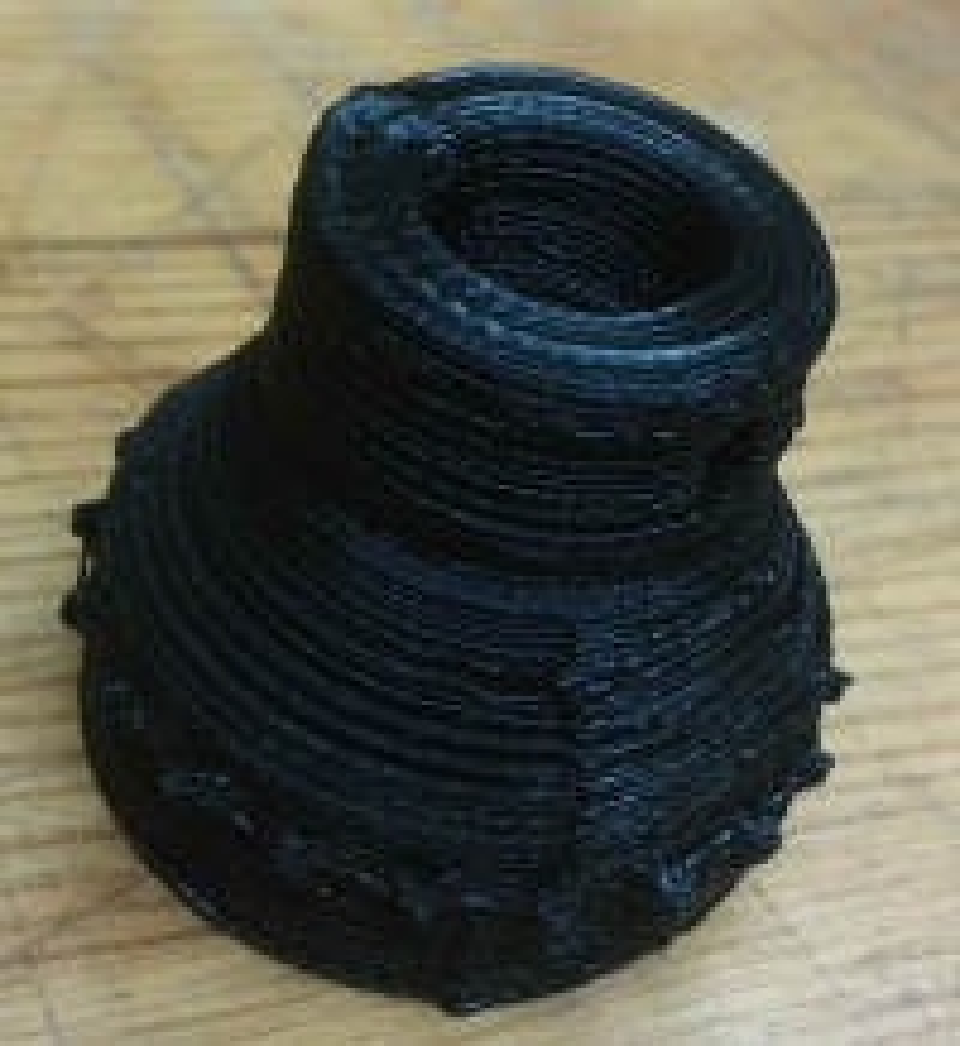 Print with worn groovemount