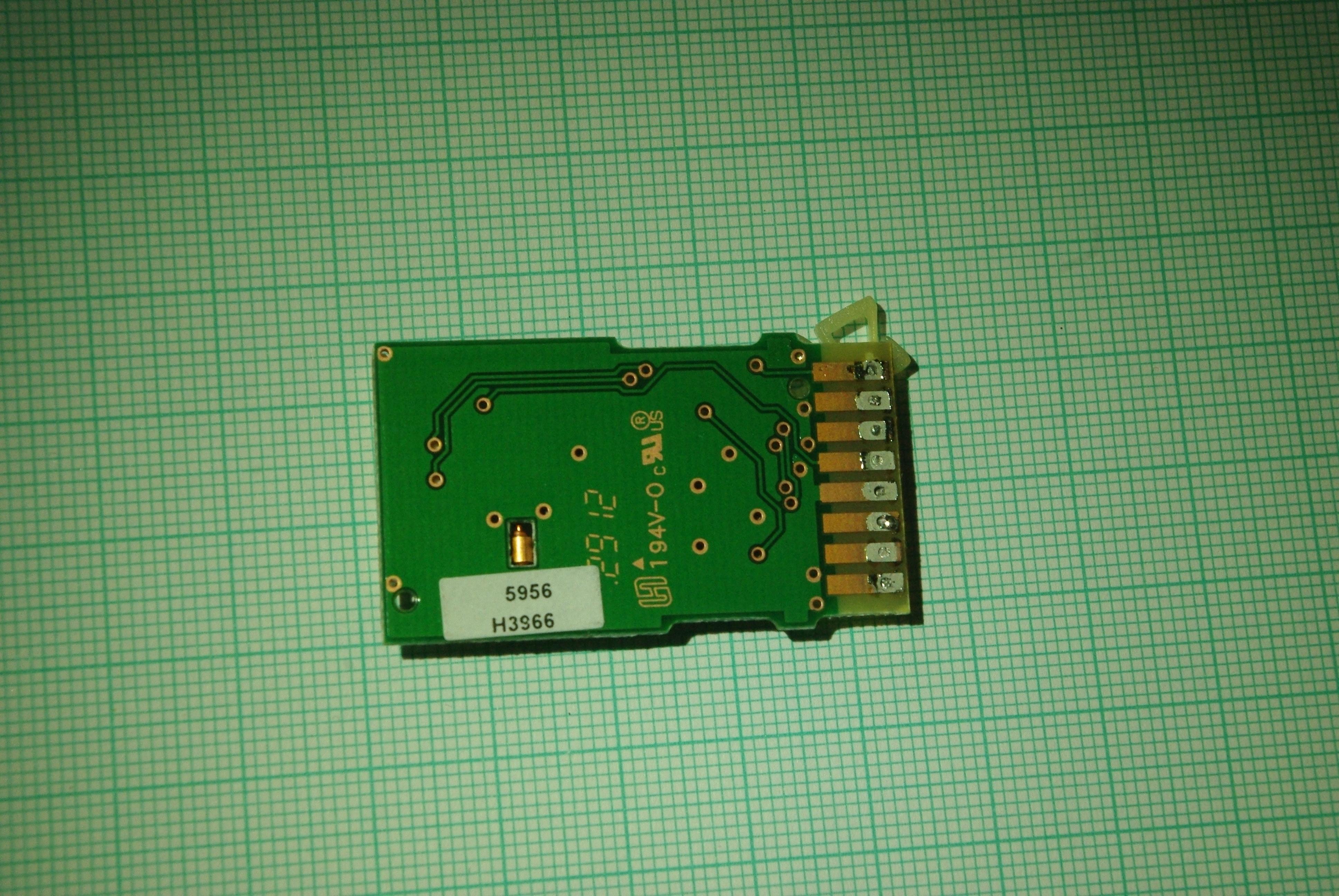 sensors PCB back side