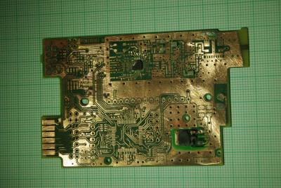 main PCB front side top layer - with removed curcuits